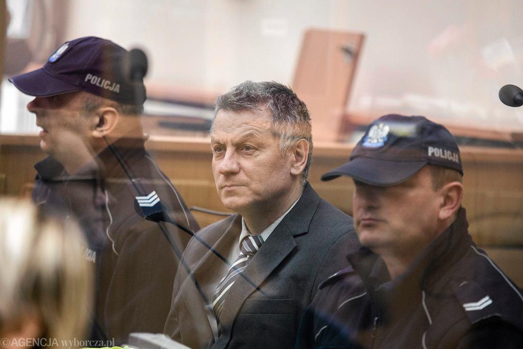 Brunon Kwiecień podczas posiedzenia sądu w 2017 roku