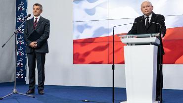 Marszałek Sejmu Marek Kuchciński i prezes PiS Jarosław Kaczyński.