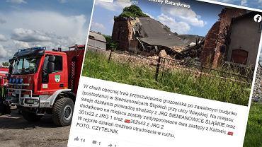 Siemianowice Śląskie. Doszło do katastrofy budowlanej