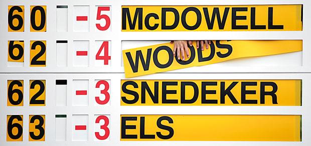 Mój pierwszy raz: na polu golfowym, sport, mój pierwszy raz, The Open -  zmiana na tablicy wyników