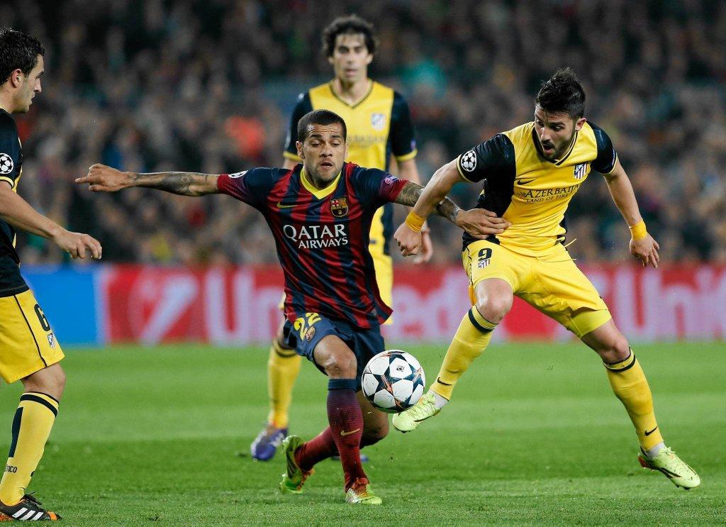 Daniel Alves i David Villa