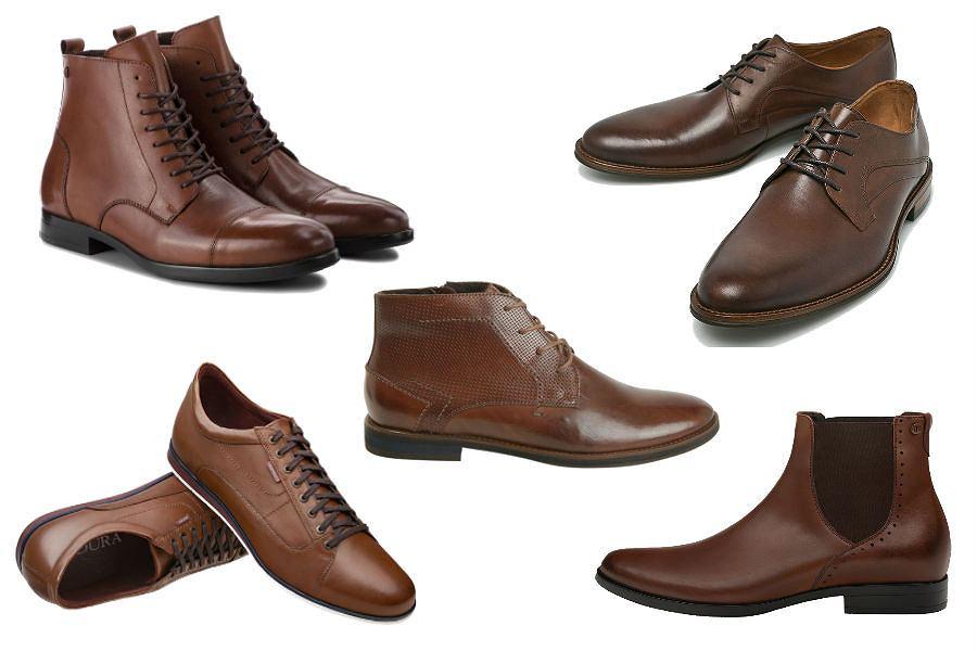 Kolaż / Brązowe buty Badura / Materiały partnerów