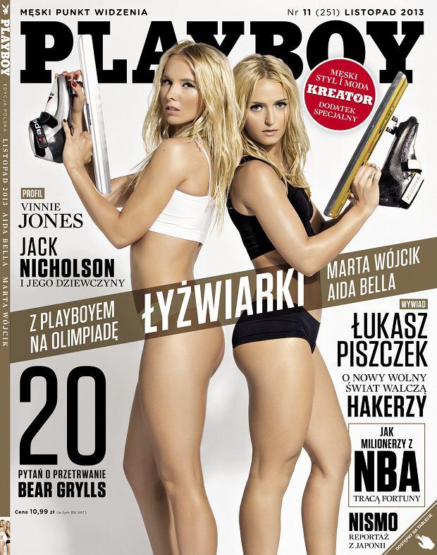 Piękne opolskie łyżwiarki na okładce Playboy'a