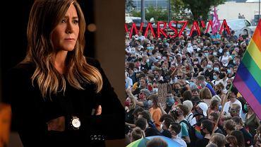 Jennifer Aniston reaguje na atak na LGBT+ w Warszawie