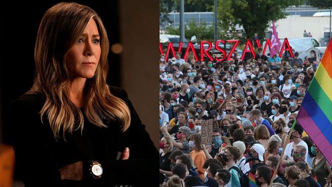 Jennifer Aniston reaguje na atak na LGBT+ w Warszawie. Gwiazda nie pozostała obojętna na homofobiczne zachowania