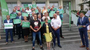Wybory parlamentarne 2019. Zielona Góra, prezentacja kandydatów PSL - Koalicja Polska, 5 września 2019.