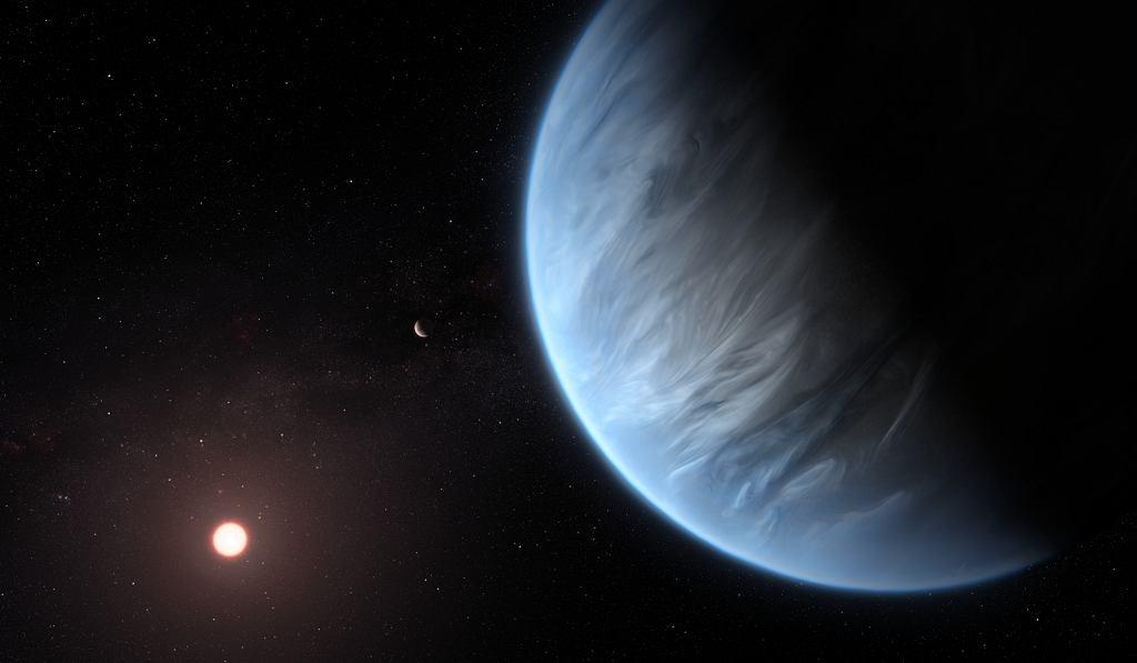 Egzoplaneta K2-18b - wizualizacja