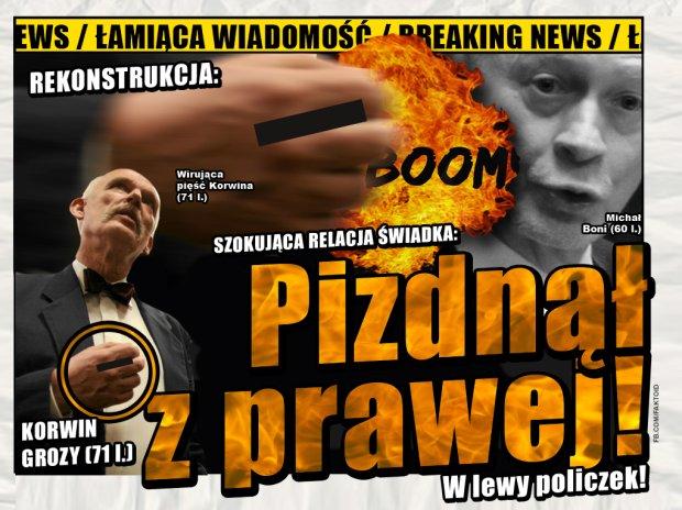 BREAKING NEWS: Korwin uderzał z PRAWEJ! -  - Faktoid