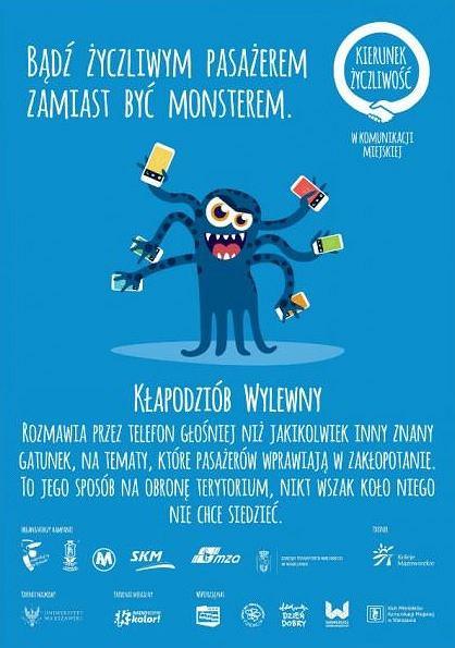 W warszawskiej komunikacji miejskiej funkcjonuje kampania ucząca pasażerów kultury