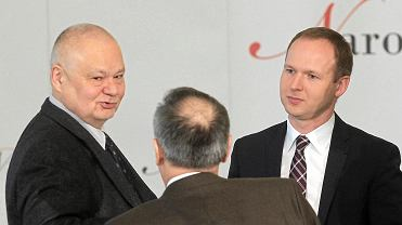 Od lewej: Adam Glapiński, Marek Chrzanowski oraz Paweł Soloch, szef BBN podczas posiedzenia Narodowej Rady Rozwoju 16 marca 2016 r.
