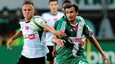 Legia Warszawa - Lechia Gdańsk 0:1. Jarosław Bieniuk (z prawej)