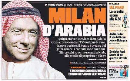 Silvio Berlusconi na okładce 'La Gazetta dello Sport'