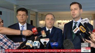 Ryszard Petru, Grzegorz Schetyna, Władysław Kosiniak-Kamysz.