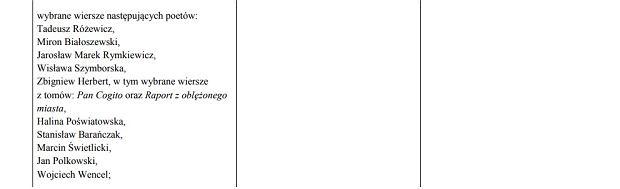 Fragment z podstawy programowej