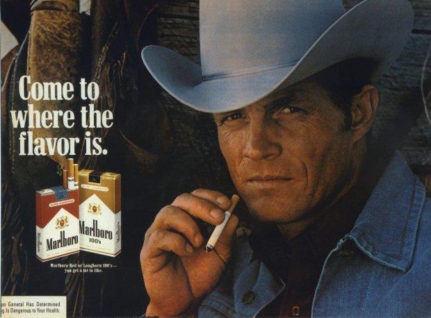 Eric Lawson w reklamie papierosów Marlboro
