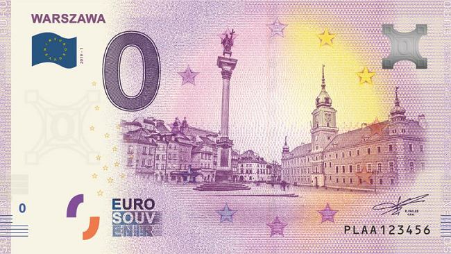 Polski banknot 0 euro trafi niedługo do sprzedaży. Ozdobiono go rysunkiem warszawskiej Starówki