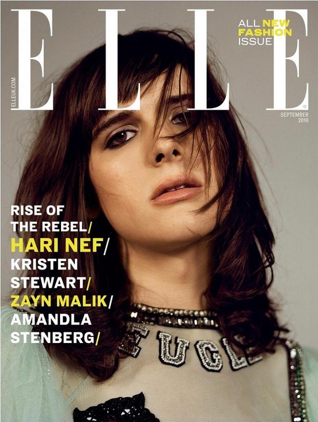 Hari Nef na okładce ELLE UK, wrzesień 2016