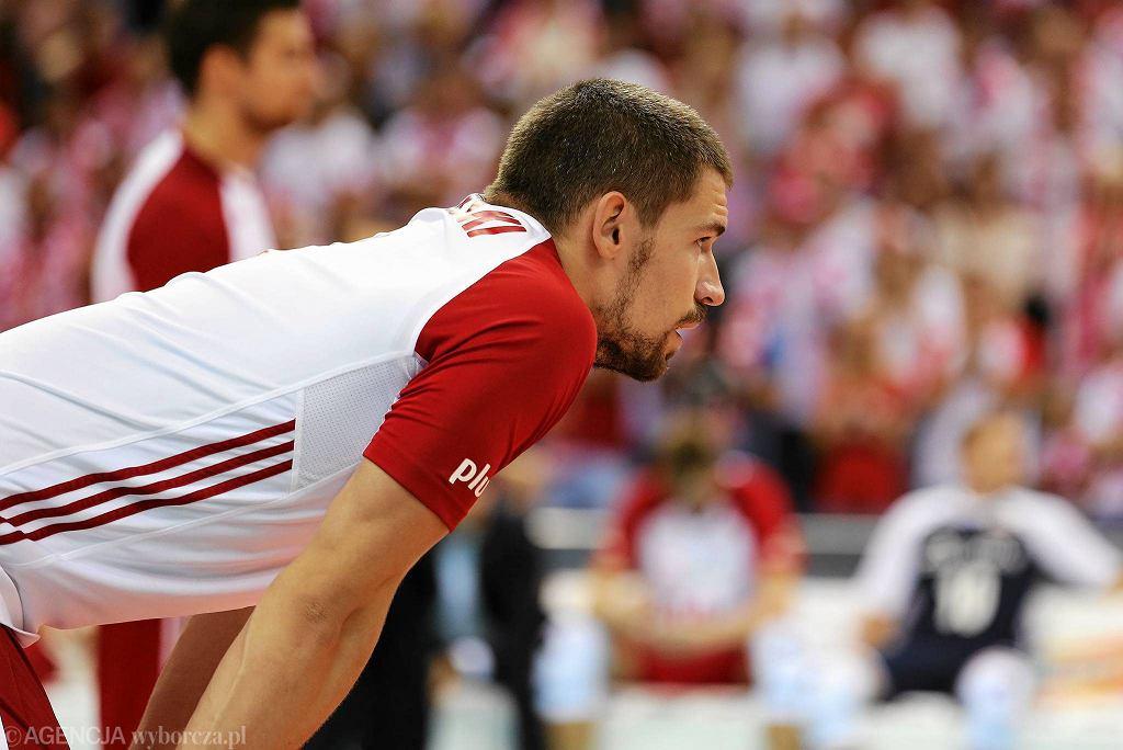 Dawid Konarski w koszulce reprezentacji Polski