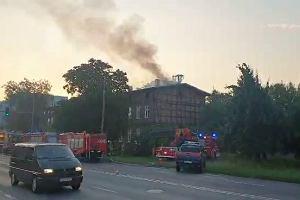 Płonął stary dom w Fordonie