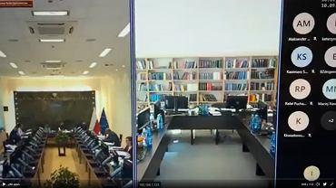 Screen z nagrania z posiedzenia KRS