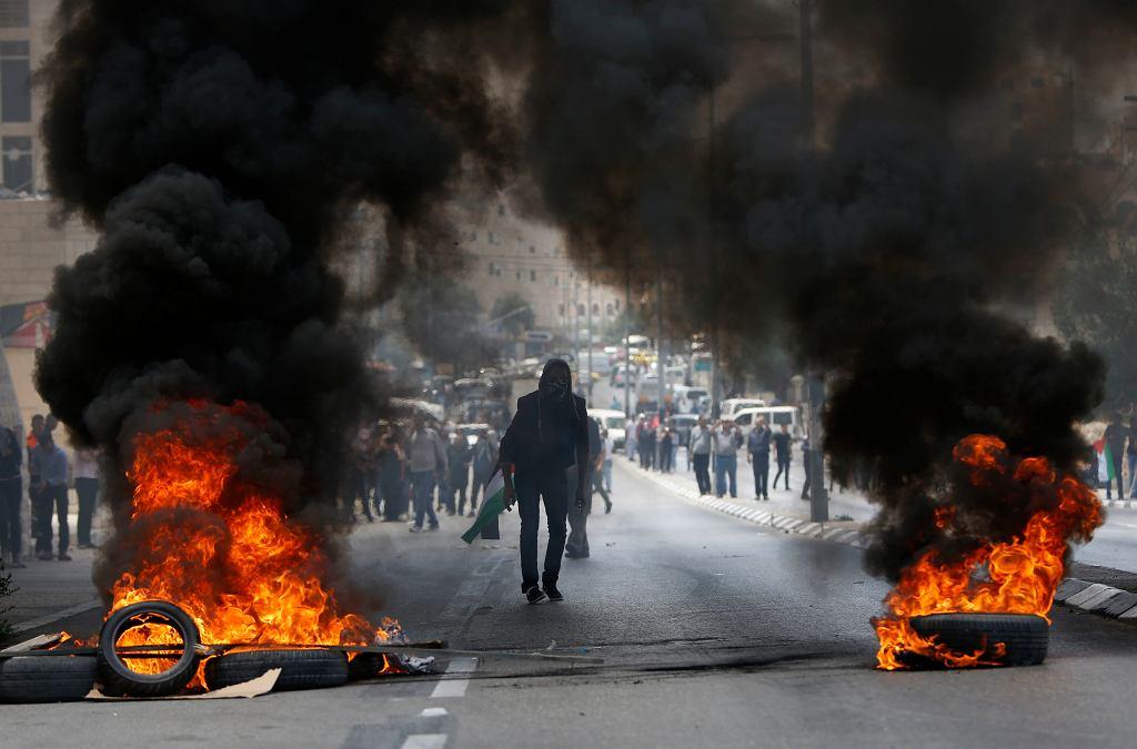 Protesty Palestyńczyków (okolice granicy strefy Gazy)