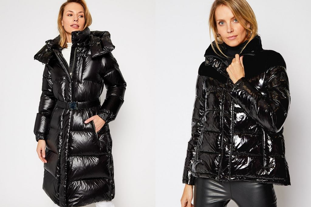 Metaliczne kurtki na zimę