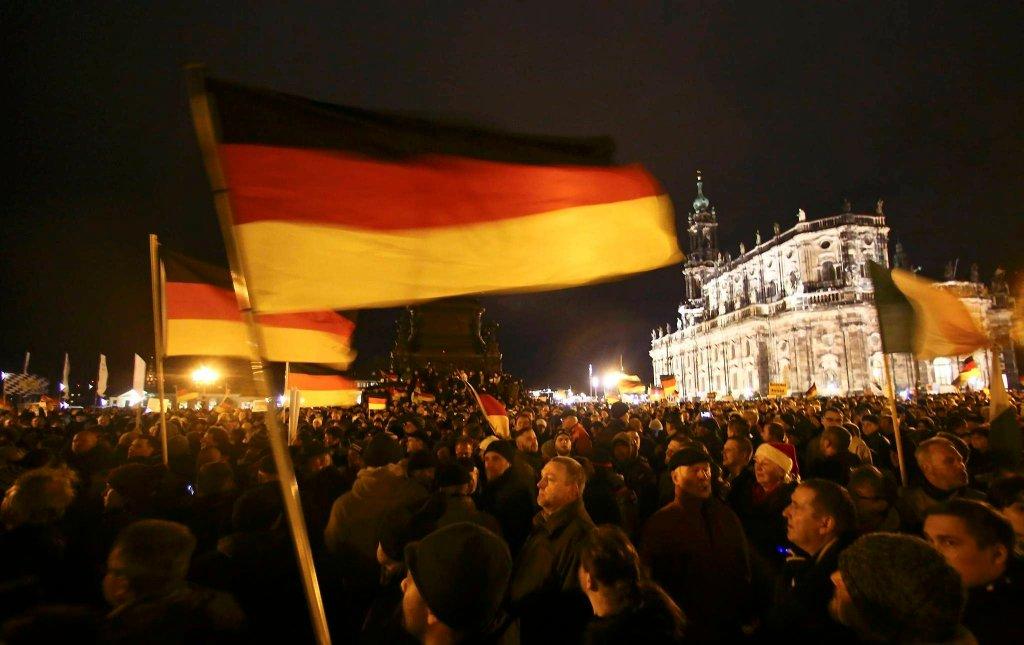 Anty muzułmańskie manifestacje w Dreźnie
