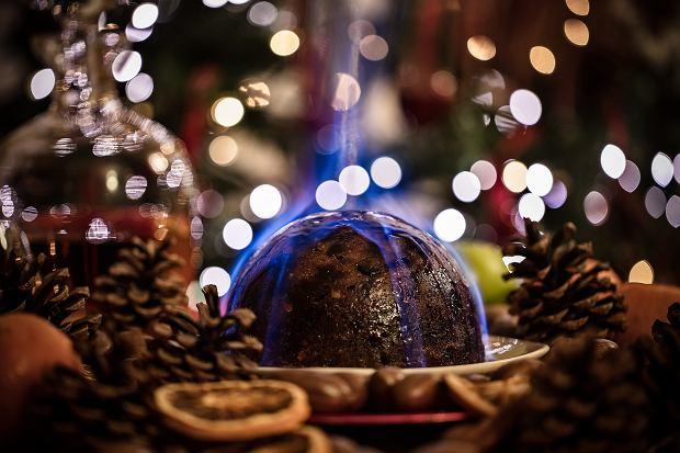 Podpalany Christmas pudding