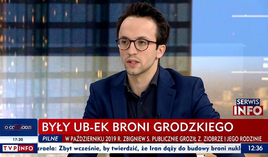 TVP Info o Grodzkim i 'ubeku'