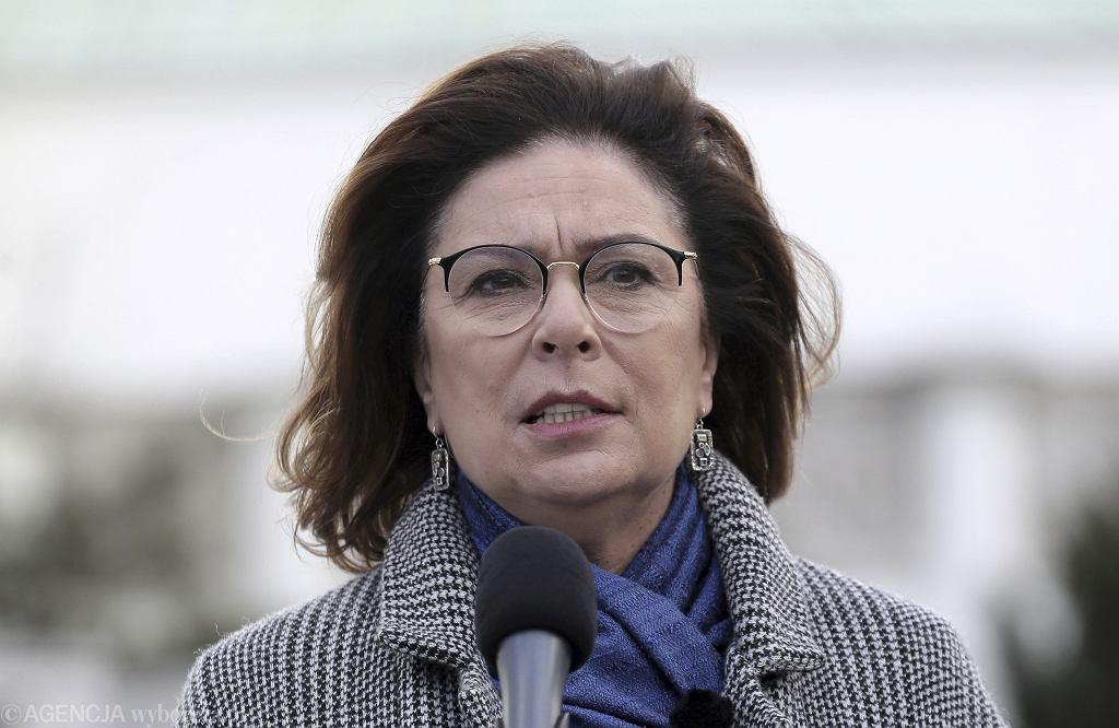 Kandydatka na prezydenta RP Małgorzata Kidawa-Błońska na kampanijnym szlaku. Warszawa, 13 marca 2020 r.