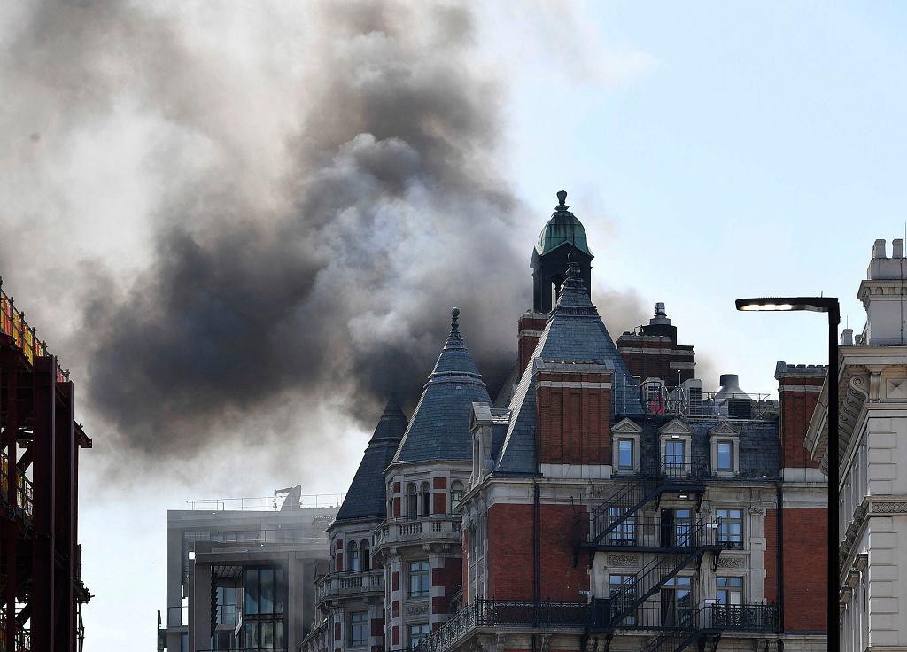 Pożar hotelu w Londynie