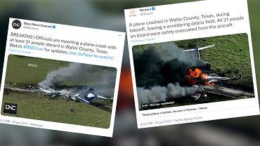 Katastrofa lotnicza w Teksasie