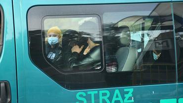 Bus z migrantami zatrzymany w Kostrzynie nad Odrą.