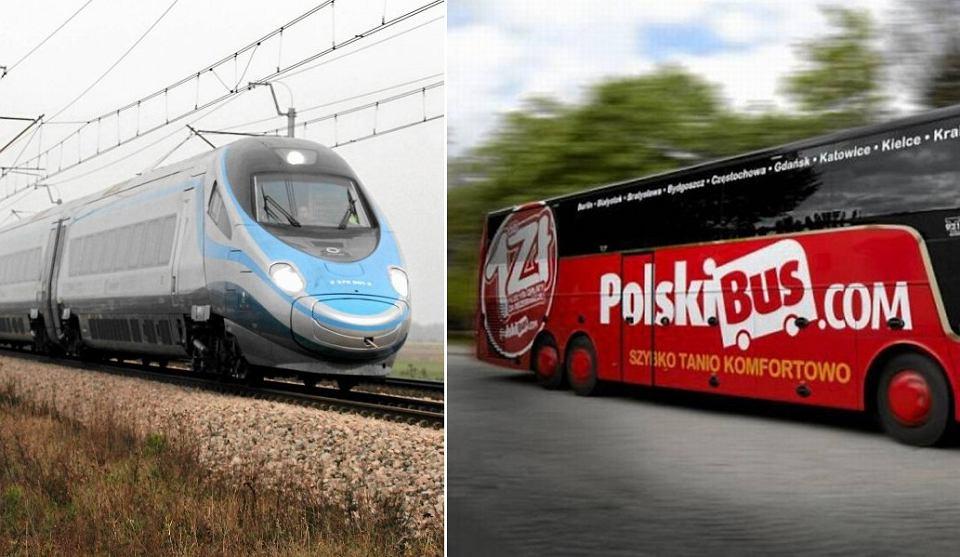 Kolejarze konkurują z PolskimBusem