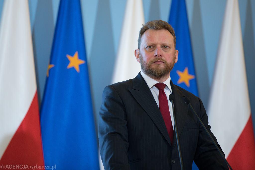 Konferencja prasowa ministra zdrowia w Warszawie w sprawie koronawirusa