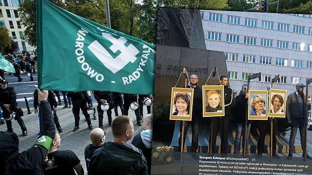 Zdjęcia europosłów PO na szubienicach. Jest subsydiarny akt oskarżenia (Agencja Gazeta / twitter.com/SchetynadlaPO)