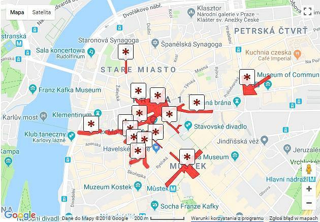 Strefy zakazane dla rowerów w Pradze 1