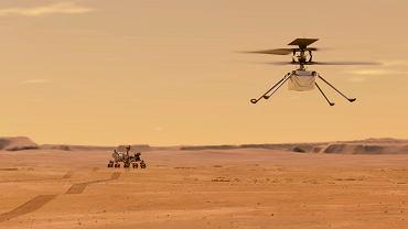 Helikopter Ingenuity odezwał się z Marsa. Kiedy po raz pierwszy wzbije się w powietrze?