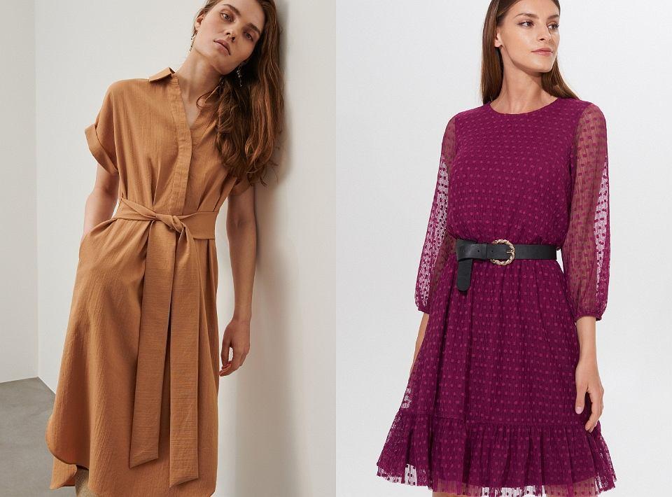Sukienki z paskiem  na wiosnę