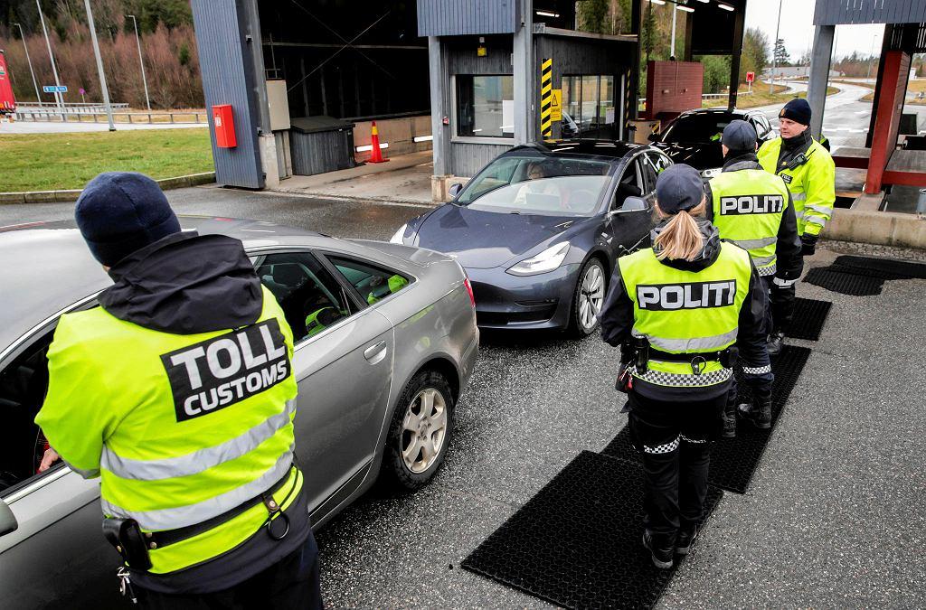 Kontrola na granicy szwedzko-norweskiej, 16 marca 2020