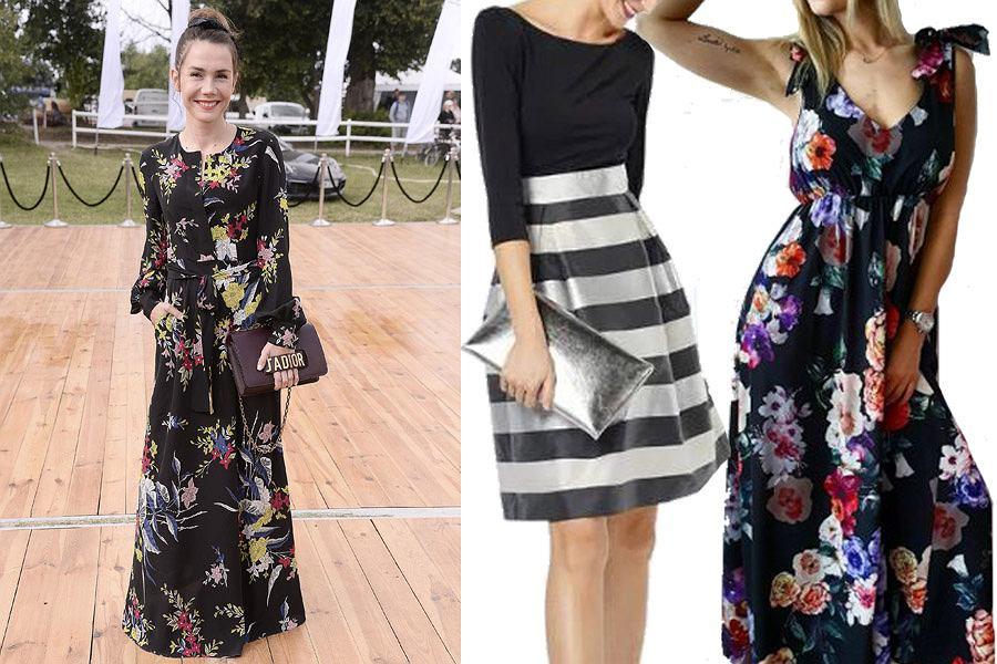 Kolaż, czarna sukienka na wesele/Materiały partnera