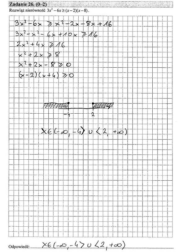 Matura poprawkowa 2016 matematyka, Zad. 26