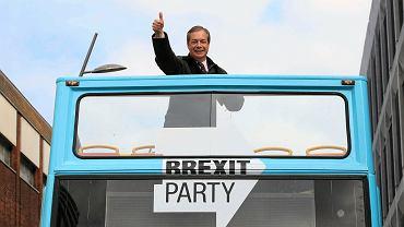 Nigel Farage, przywódca Partii Brexit