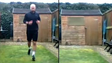 Mężczyzna przebiegł maraton w ogrodzie