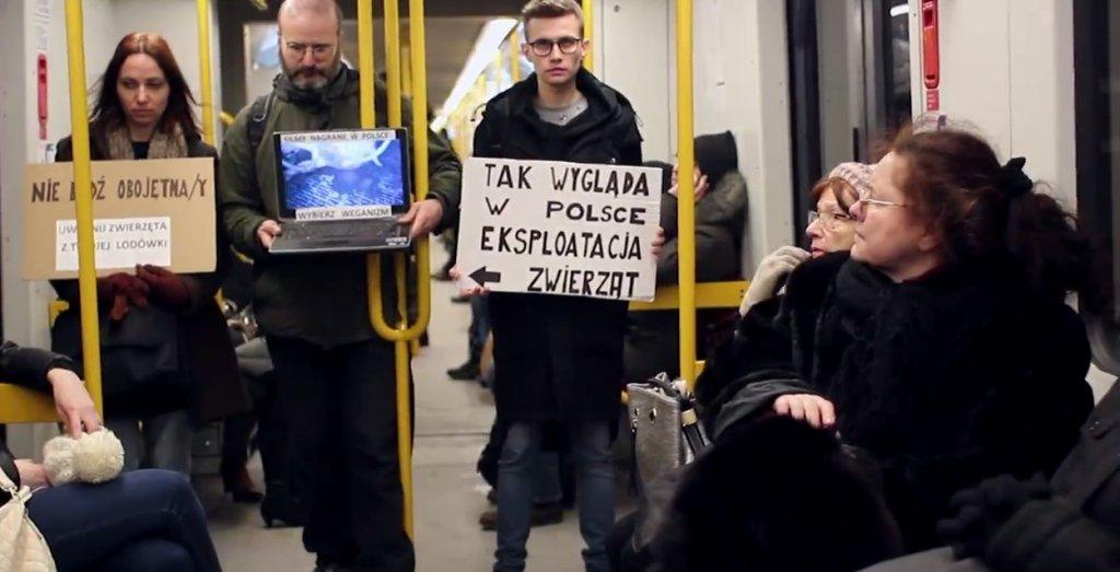 Warszawskie Metro i jedna ze społecznych akcji