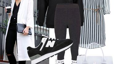 Wiosenne trendy - biel z czernią