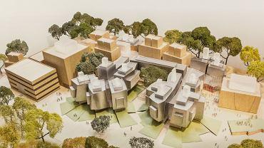 Koncepcja Franka Gehrego nowego kampusu Akademii Muzycznej na Grzegórzkach