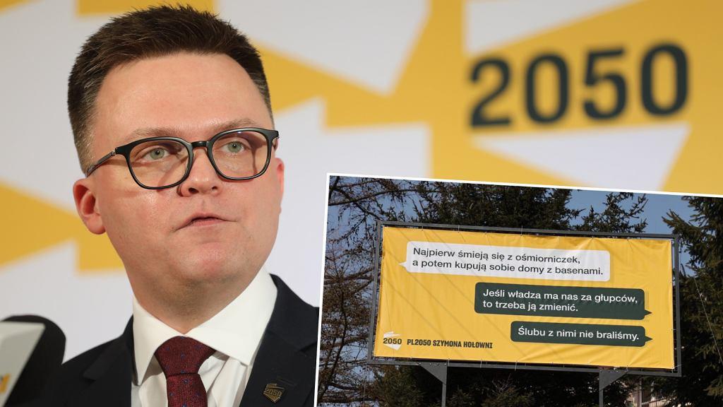 Polska 2050 uderza banerami w PiS