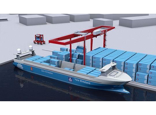 Yara Birkeland będzie pierwszym autonomicznym, w pełni bezemisyjnym statkiem bezzałogowym