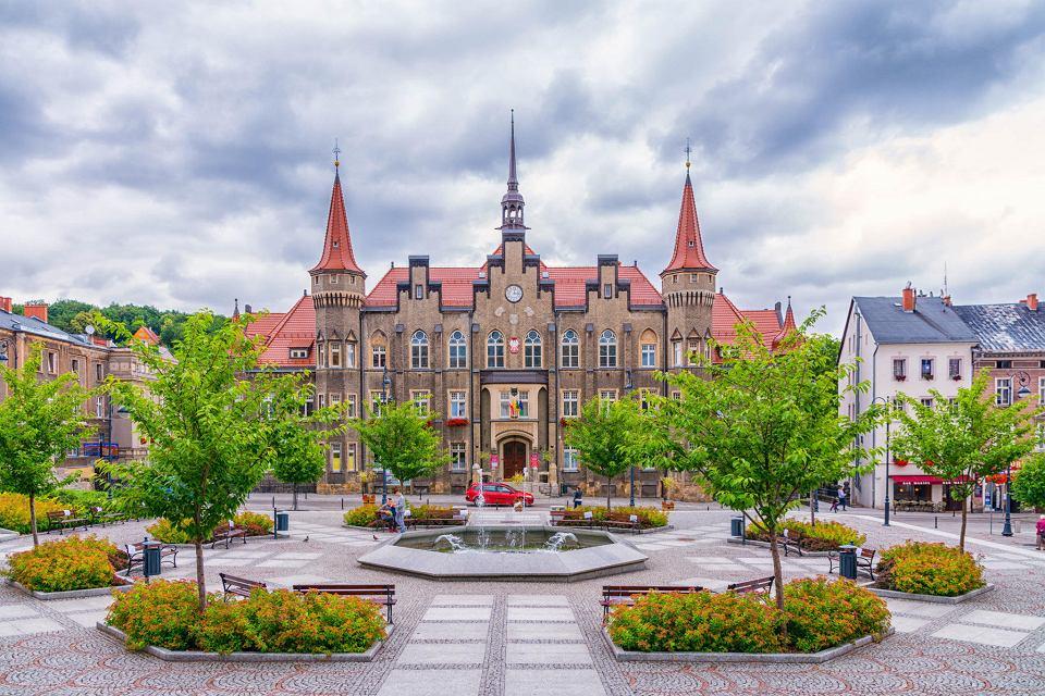 Widok na centrum Wałbrzycha